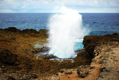 Sea, Curacao, Boka Pistol, Netherlands Antilles, Rocks