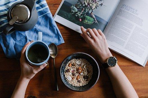 Breakfast, Oats, Healthy, Food, Diet, Fruit, Bowl, Milk