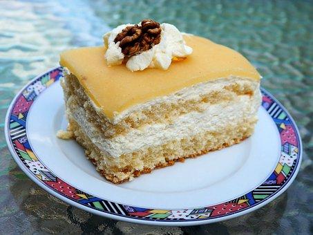 Cake, Nut Cake, Lübeck Nut Cake, Marzipan, Niederegger