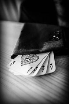 Ace, Sleeve, Magician, Cards, Poker, Spades, Jacket
