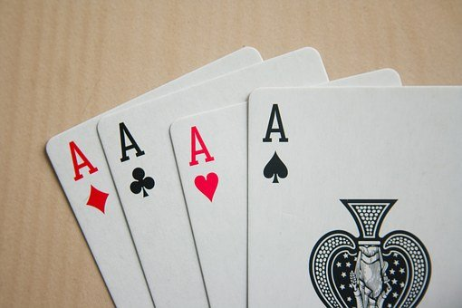 Card Game, Game, Cards, Black, White, Ace, Spade, Four
