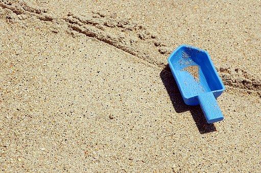 Beach, Toy Shovel, Left Behind, Nobody, Sand, Child