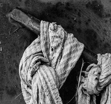 Towel, Torn, Cloth, Street, City, Macro, Close, Detail