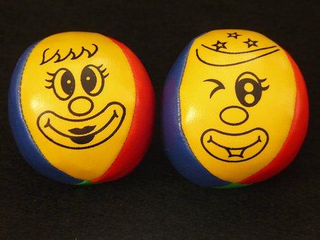 Juggling Balls, Balls, Juggle, Face, Clown, Colorful