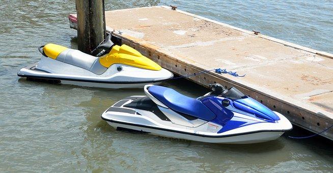 Jet Ski, Dock, Water, Boat, Sea, Ocean, Coast, Pier