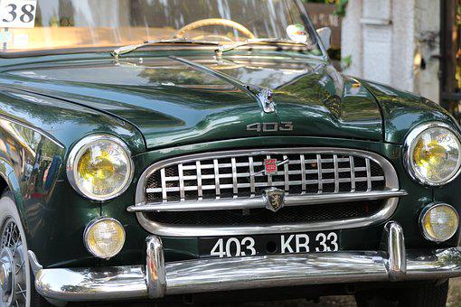 Peugeot, Former, Collection, Retro, Front Light, 403
