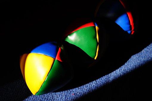 Balls, Juggling Balls, Juggle, Colorful, Color, Yellow