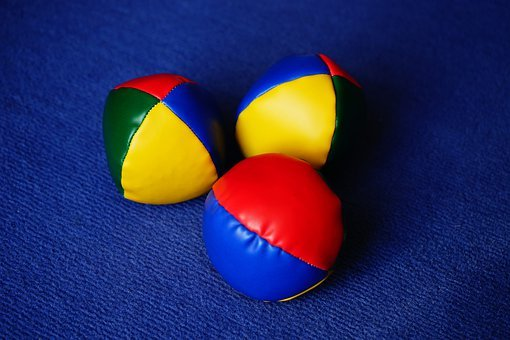Balls, Juggling Balls, Juggle, Colorful, Color, Yellow