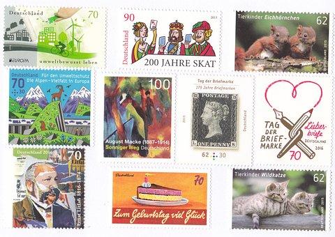 Postage Stamps, Collect, Deutsche Post