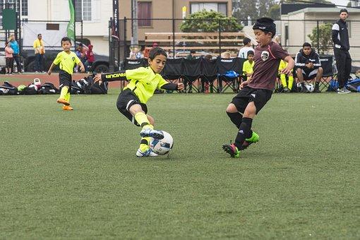 Soccer, Dribble, Football, Player, Ball, Sport