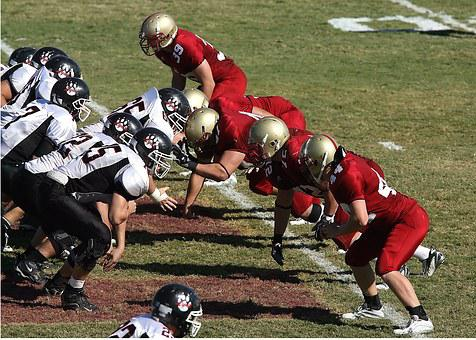 Football, Line Of Scrimmage, Linemen, Scrimmage, Team