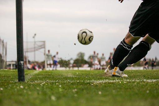 Football, Ball, Sport, Goal Kick, Corner, Outdoor