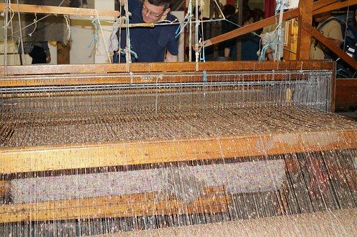 Weave, Weaving, Loom, Textile, Handmade, Craft, Vintage