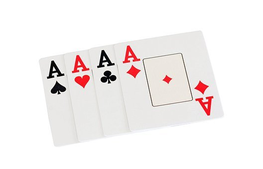 Ace, Aces, Four, Diamonds, Hearts, Clubs, Spades, Red