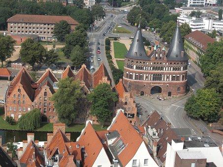 Holsten Gate, Lübeck, Hanseatic League, Hanseatic City
