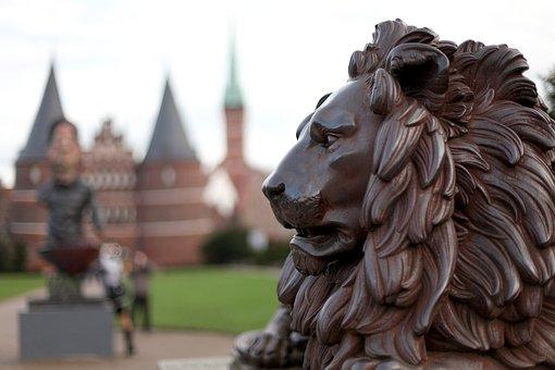Lion, Iron, Lübeck, Lion City, Holsten Gate, Landmark