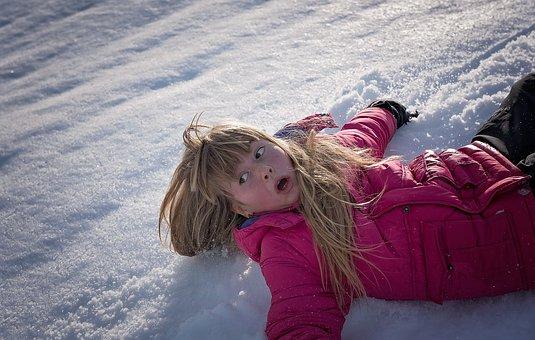 Person, Human, Winter, Snow, Slip, Downhill, Down