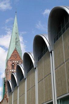 Architecture, Lübeck, Ingenhoven, Building