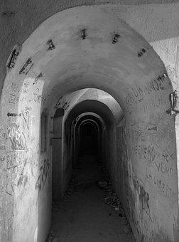 Tunnels, Cartagena, Murcia, Spain, Landmark, Dark