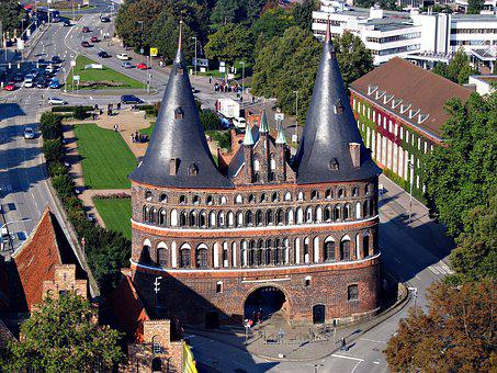 Lübeck, Holstentor, Germany, Luebeck, Landmark