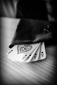 Ace, Sleeve, Magician, Cards, Poker, Spades, Jacket