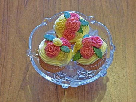 Muffin, Cupcakes, Sweets, Cakes, Marzipan