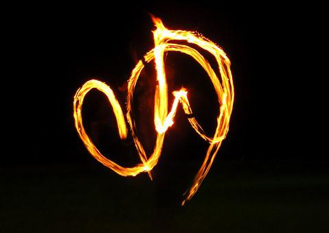 Fire, Poi, Feuerpoi, Juggling, Juggler, Middle Ages