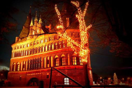 Lübeck, Evening, Lights, Light, Night, Lighting, Mood