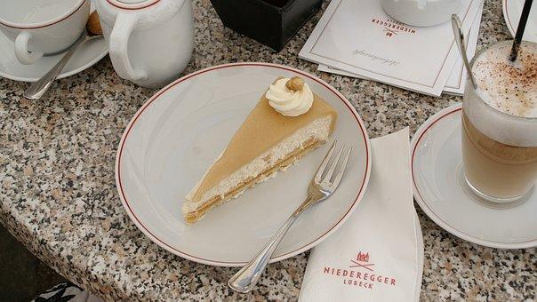 Cake, Marzipan, Nut Cake, Coffee, Lübeck, Niederegger