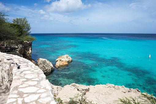 Curacao, Sea, Ocean, Water, Coast, Nature, Summer, Sand