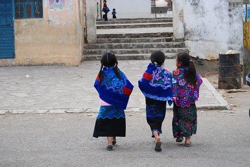 Girls, People, Mexico, Tzotzil, Native, Chiapas