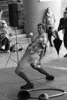 Juggler, Agility, Entertainment, Performance, Juggling