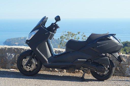 Satelis, Peugeot, Black Edition, Scooter, Sea