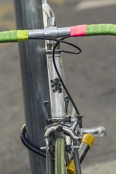 Bicycle, Peugeot, Green, Pink, Old, Vintage, Retro