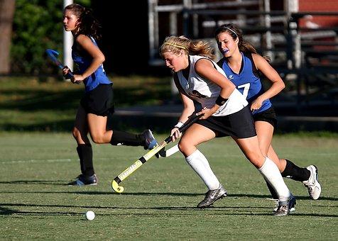 Field Hockey, Player, Girls, Game, Sport, Action