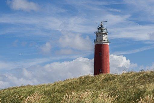 Lighthouse, Dune, Red, Beach, Grass, Great, Sand, Shore