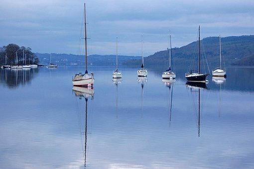 Boats, Reflection, Lake, Still Water, Water, Still