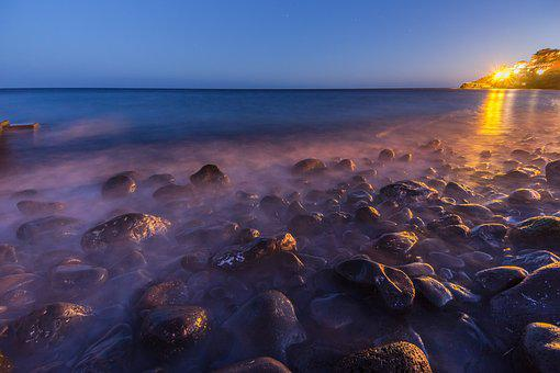 Evening, Rocks, Sea, Coast, Night, Nature, Landscape