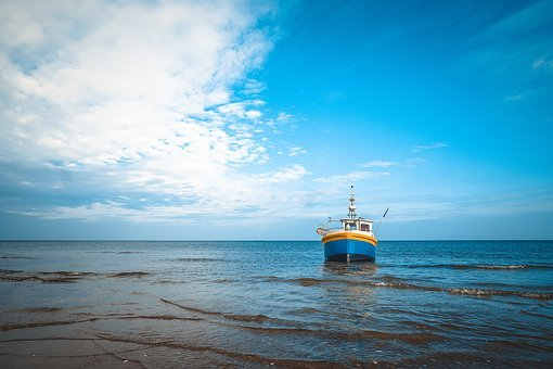 Seashore, Fishing Boat, Fishing, Boat, Sea, Shore