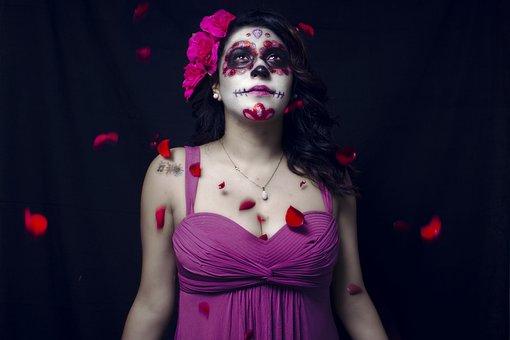 Halloween Costume, Catrina, Muerte, Mexican, Skull