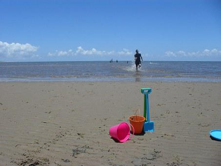 Sand, Bucket, Spade, Sea, Ocean, Shovel, Beach, Summer