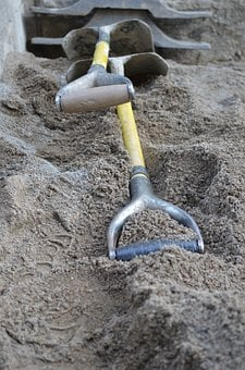 Shovels, Shoveling, Spades, Digging, Sand, Excavation