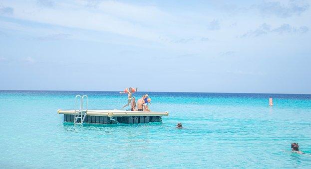 Curacao, Sea, Ocean, Water, Platform, Nature, Summer