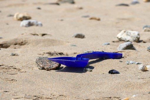 Beach, Spade, Sand, Fun, Summer, Bucket, Vacation