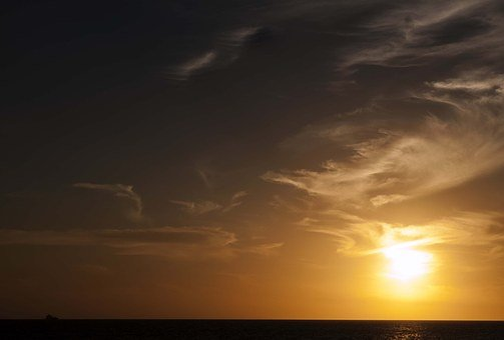 Sunset, Beach, Sea, Sun, Landscape, Palmas, Palms