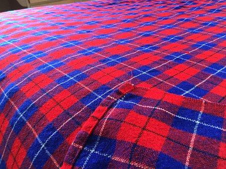 Kenya, Cotton, Blanket, Textile, Pattern, Plaid
