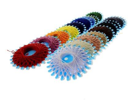 Thread, Yarn, Sew, Needle, Colorful, Nähutensilien