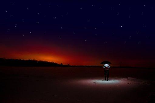 Night, Comer, Ufo, Umbrella, The Fear, Winter, Snow