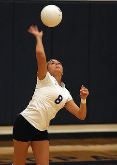 Volleyball, Player, Girl, Volley, Athlete, Action, Ball