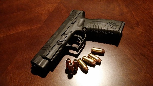 Handgun, Firearms, Pistol, Gun, Weapon, Bullets, Ammo